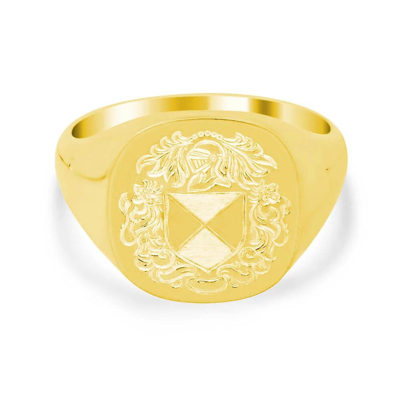 Men's Square Signet Ring - Medium Signet Rings deBebians