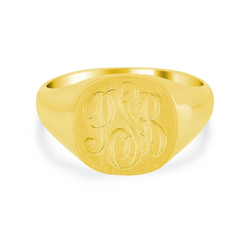 Men's Square Signet Ring - Small Signet Rings deBebians