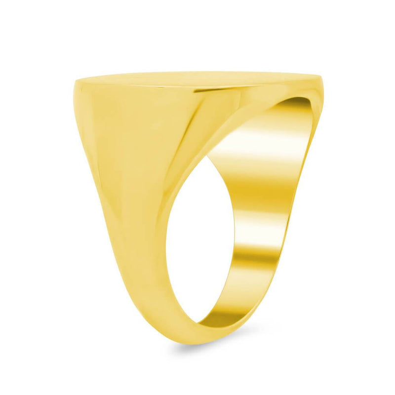 Men's Square Signet Ring - Extra Large Signet Rings deBebians