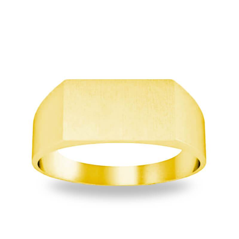 Wide Rectangular Signet Ring for Women - 12mm x 7mm Signet Rings deBebians