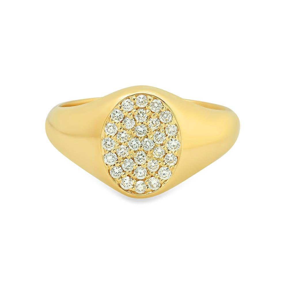 Oval Ladies Diamond Signet Ring Signet Rings deBebians