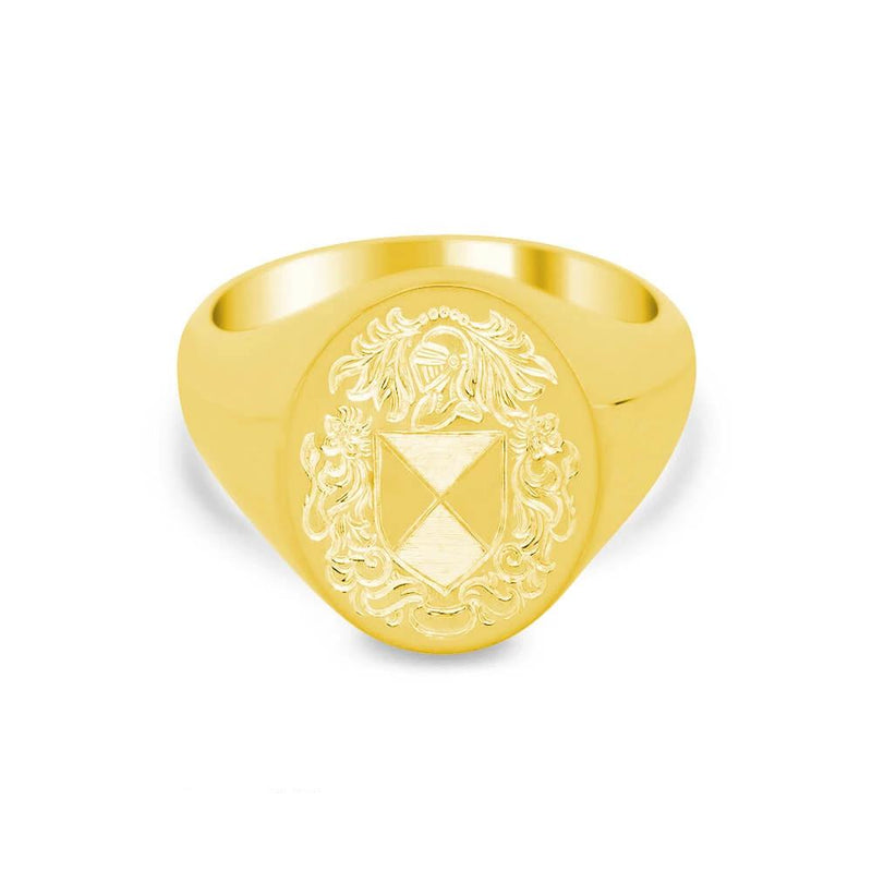 Women's Oval Signet Ring - Large Signet Rings deBebians