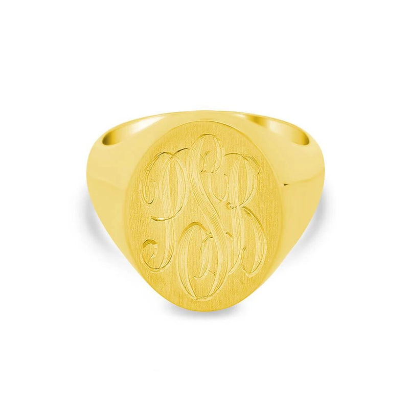 Women's Square Signet Ring - Small