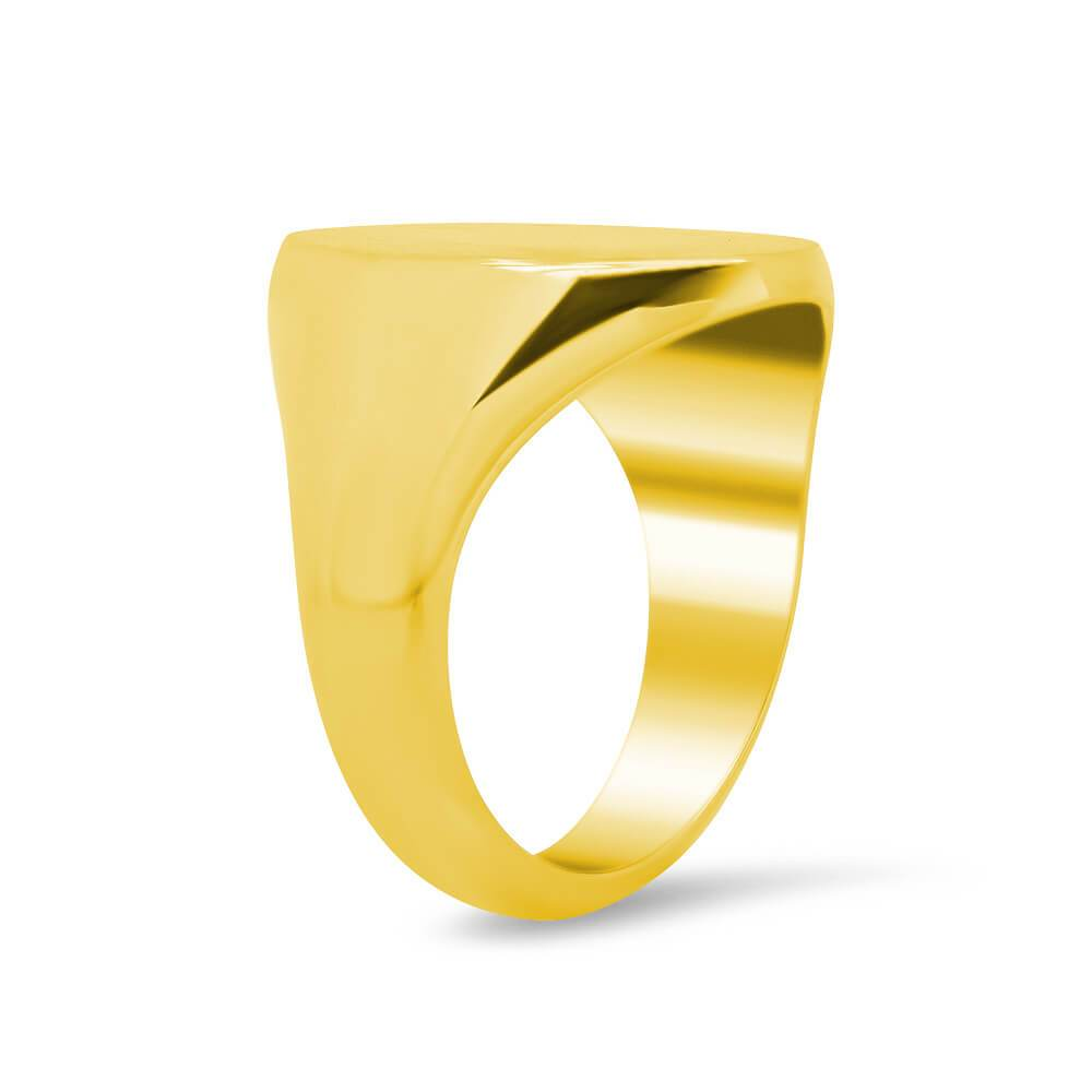 Women's Oval Signet Ring - Extra Large Signet Rings deBebians
