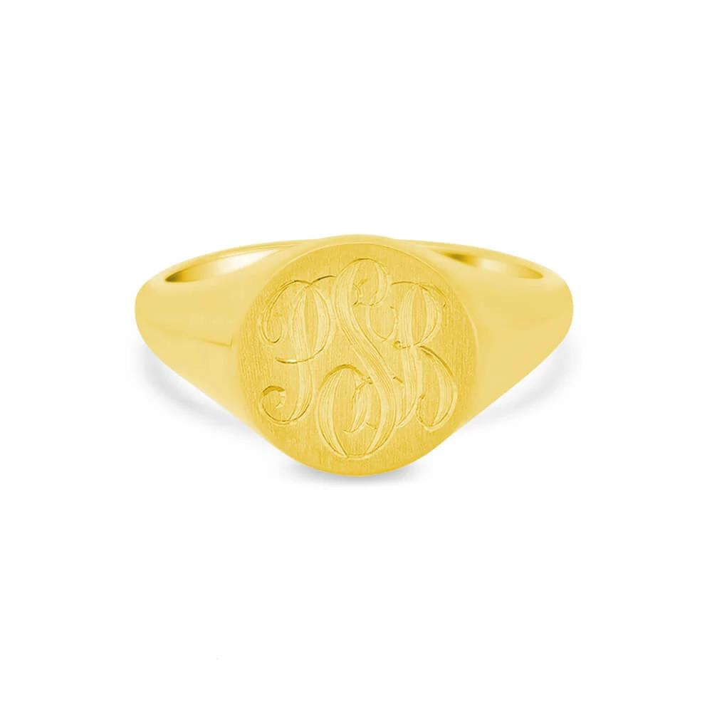 Women's Round Signet Ring - Medium Signet Rings deBebians