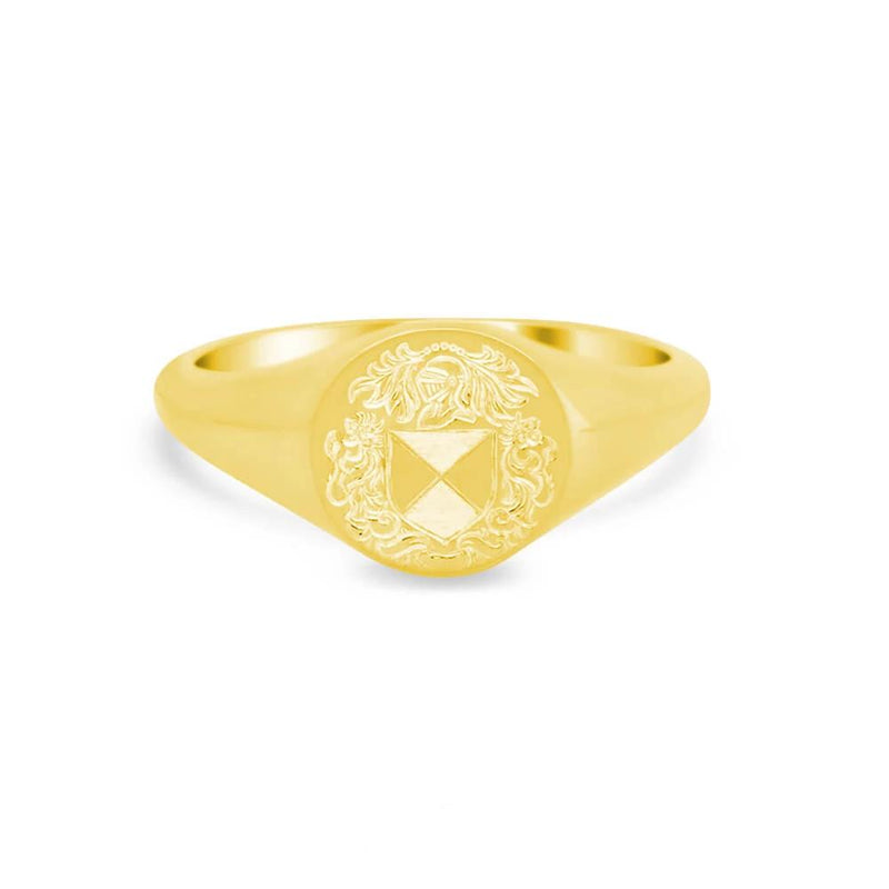 Women's Round Signet Ring - Small Signet Rings deBebians