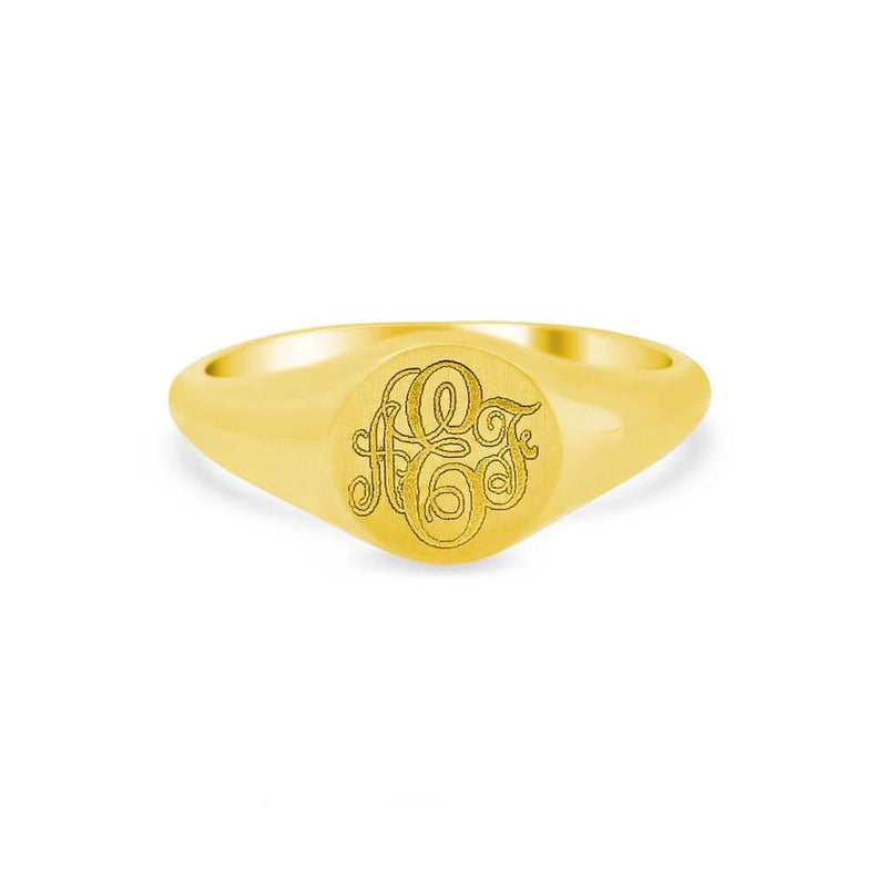 Women's Round Signet Ring - Extra Small Signet Rings deBebians