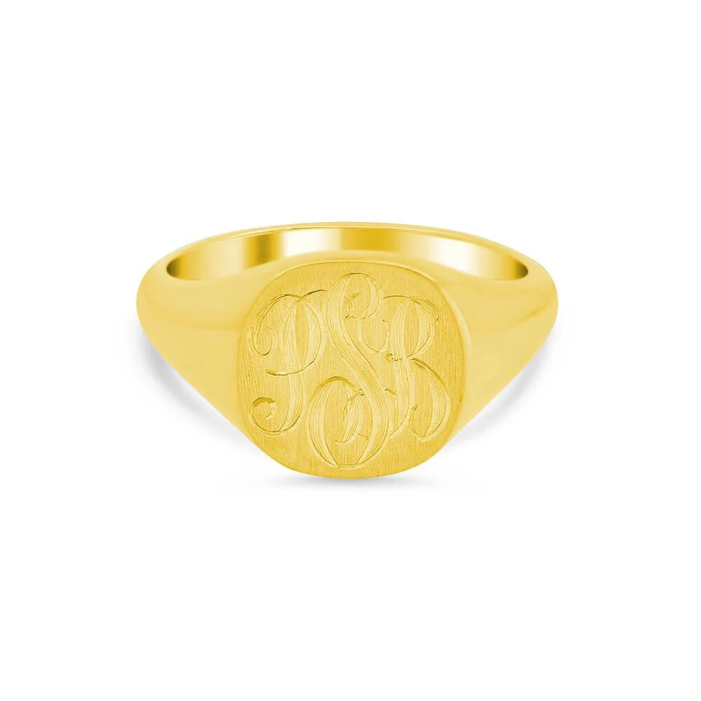 Women's Square Signet Ring - Medium Signet Rings deBebians