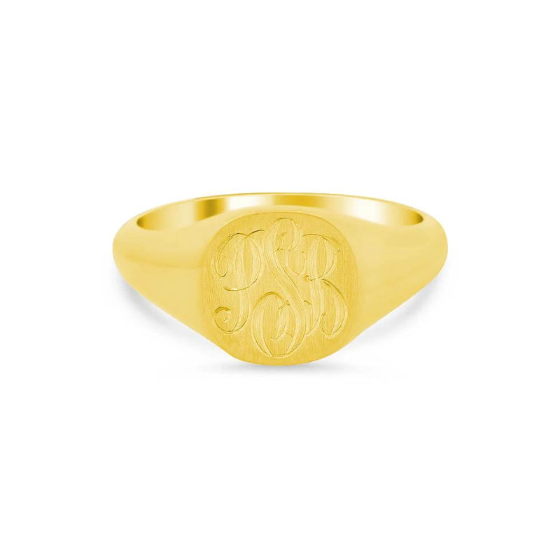 Elongated Oval Signet Ring for Women - 11mm x 7mm