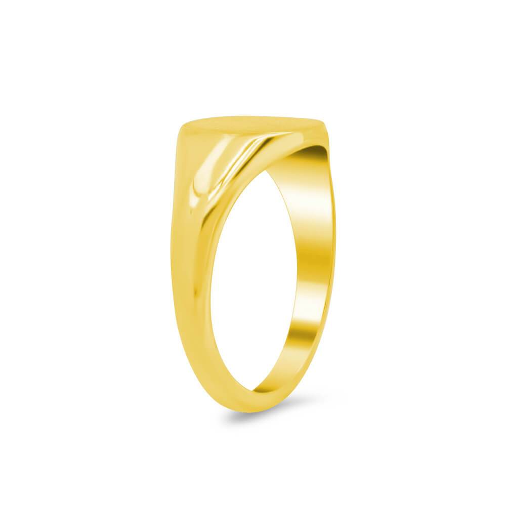 Women's Square Signet Ring - Small Signet Rings deBebians