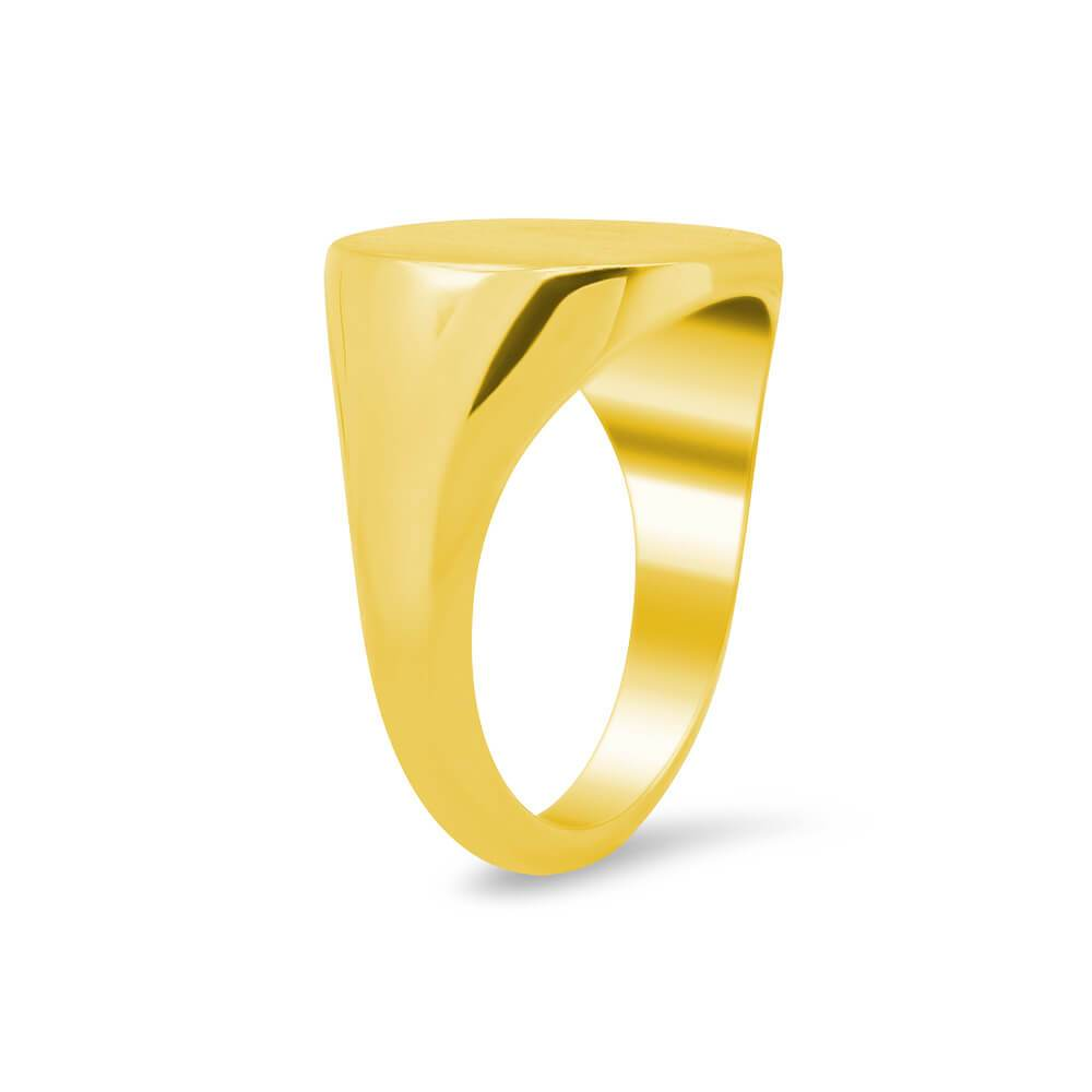 Women's Square Signet Ring - Extra Large Signet Rings deBebians