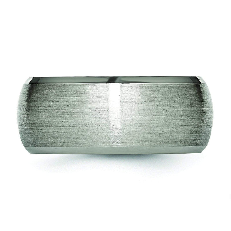 Domed 10mm Titanium Ring High and Matte Finish
