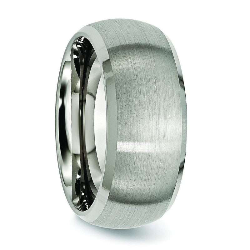 Domed 10mm Titanium Ring High and Matte Finish Titanium Wedding Rings deBebians