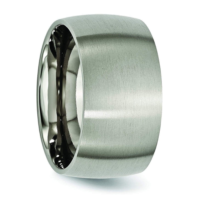 12 mm Titanium Ring Brushed Finish