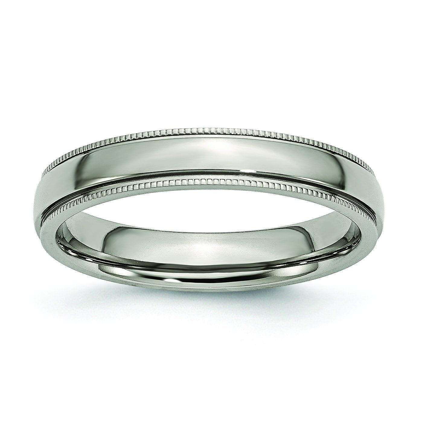4mm Titanium Ring for Women Titanium Wedding Rings deBebians