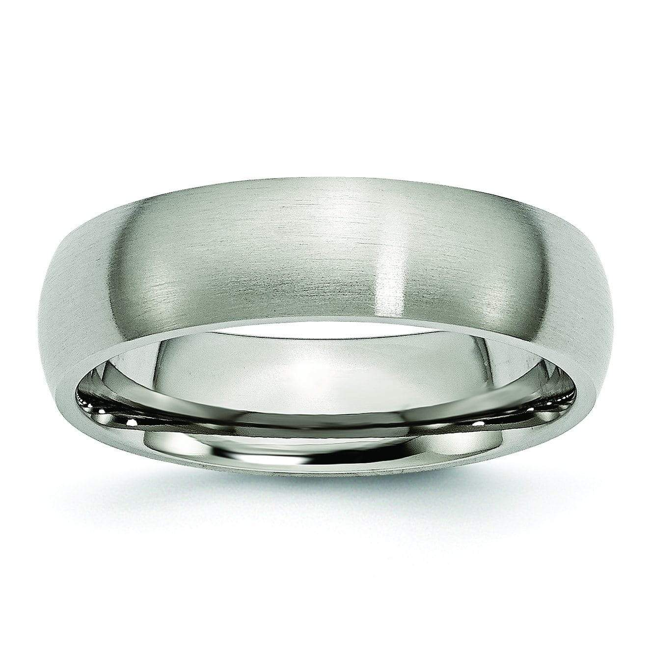 Brushed Titanium Wedding Band Titanium Wedding Rings deBebians