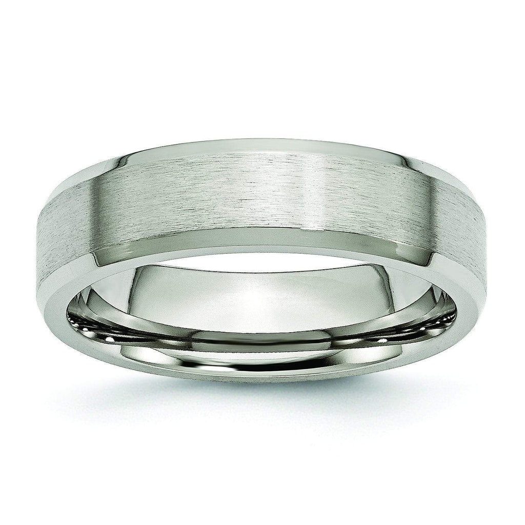 6mm Brushed Titanium Ring for Men or Women