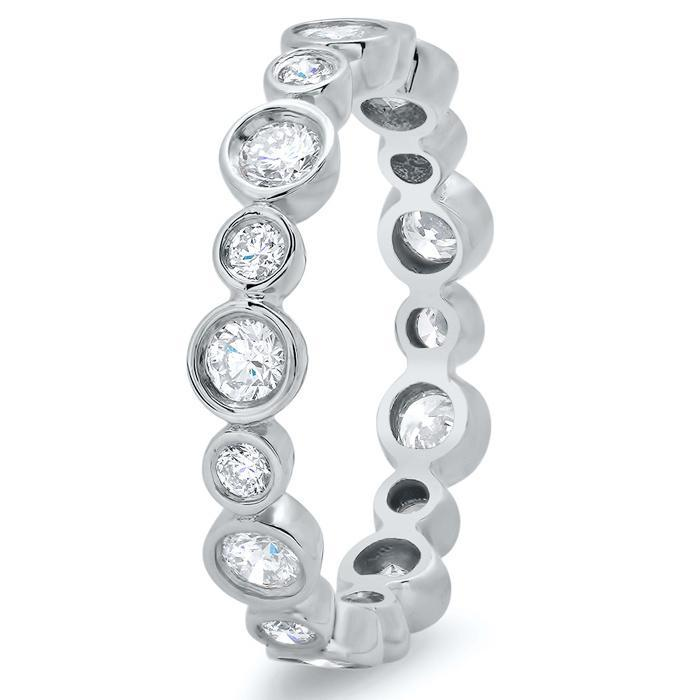 Round Bezel Set Diamond Eternity Ring - 0.80 carat Diamond Eternity Rings deBebians