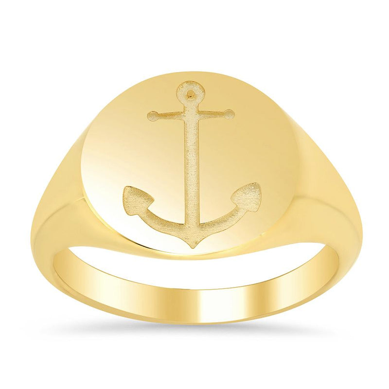Anchor Signet Ring for Women