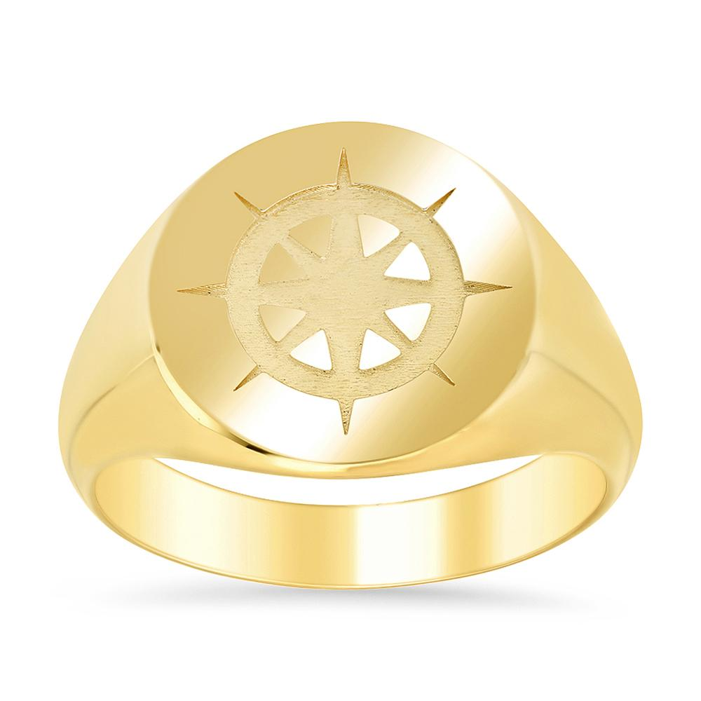 Compass Signet Ring for Men