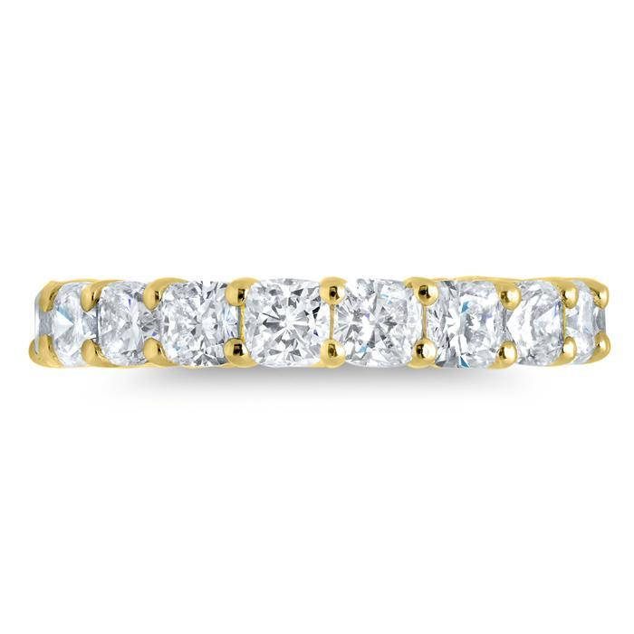 Anniversary Eternity Band with Cushion Cut Diamonds