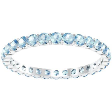 Aquamarine Eternity Band 1.00 cttw. Gemstone Eternity Rings deBebians