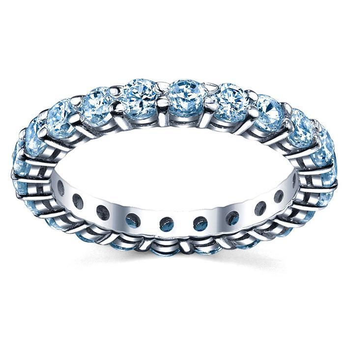 Aquamarine Wedding Ring Gemstone Eternity Rings deBebians