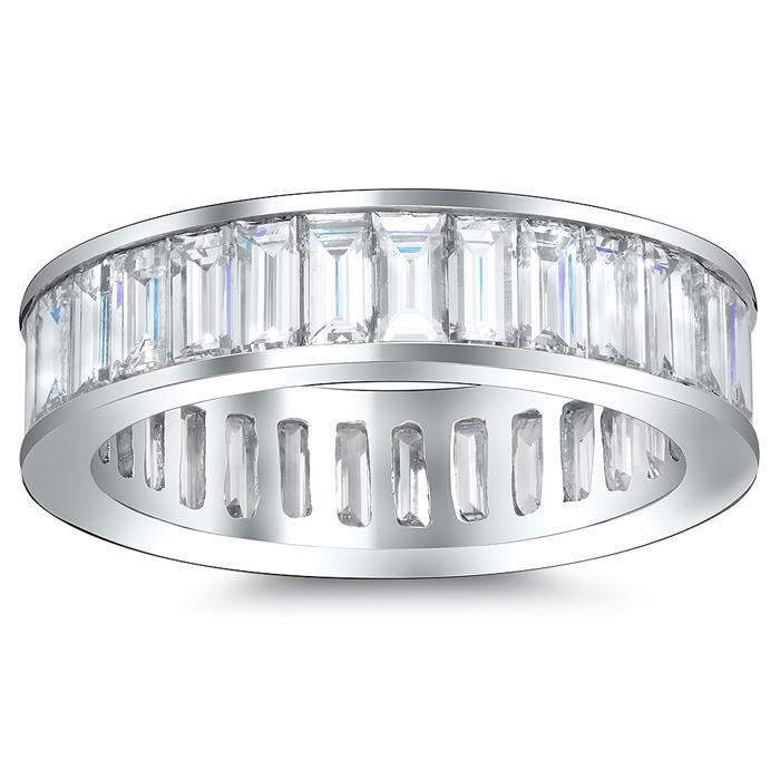 Round Shared Prong Diamond Eternity Band - 5.00 carat - Si Clarity