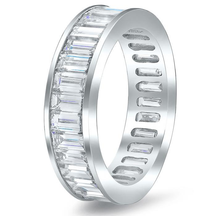 Baguette Channel Set Diamond Eternity Band - 3.00 carat Diamond Eternity Rings deBebians