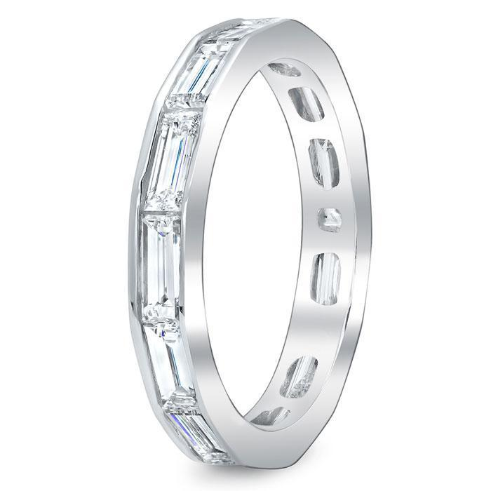 Baguette Cut Channel Set Diamond Eternity Band - 2.25 carat - VS Clarity Diamond Eternity Rings deBebians