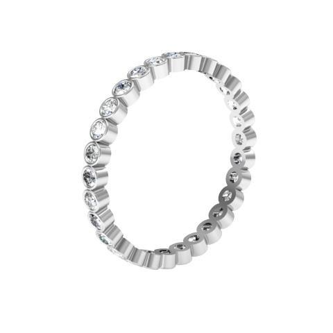 Round Bezel Set Diamond Eternity Band - 0.87 carat Diamond Eternity Rings deBebians