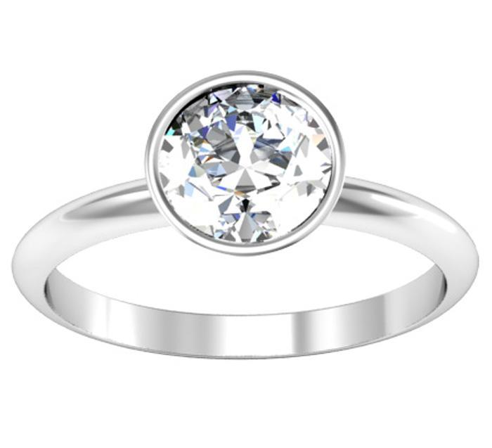Bezel Solitaire Engagement Ring Solitaire Engagement Rings deBebians