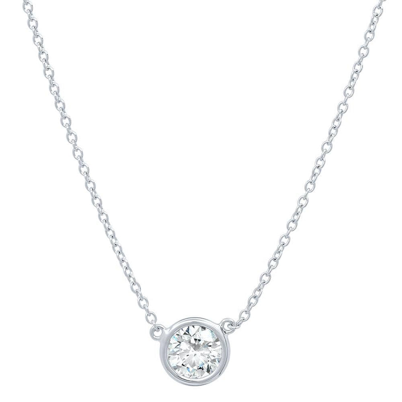 14kt Gold Solitaire Diamond Pendant Solitaire Necklaces deBebians