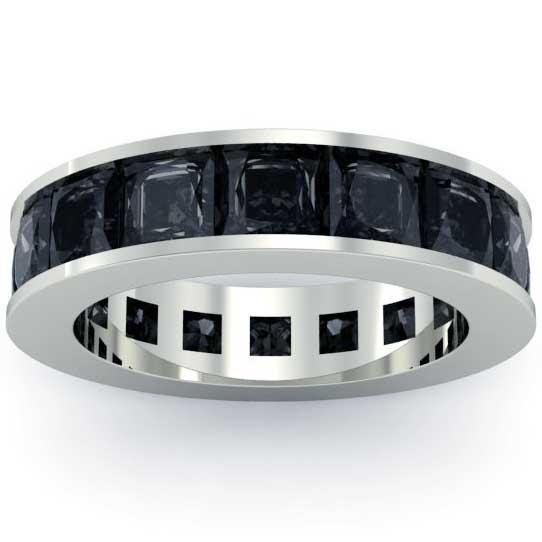 Black Diamond Anniversary Band Gemstone Eternity Rings deBebians