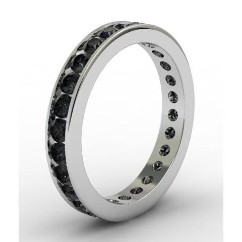 Black Diamond Eternity Ring in Channel Setting