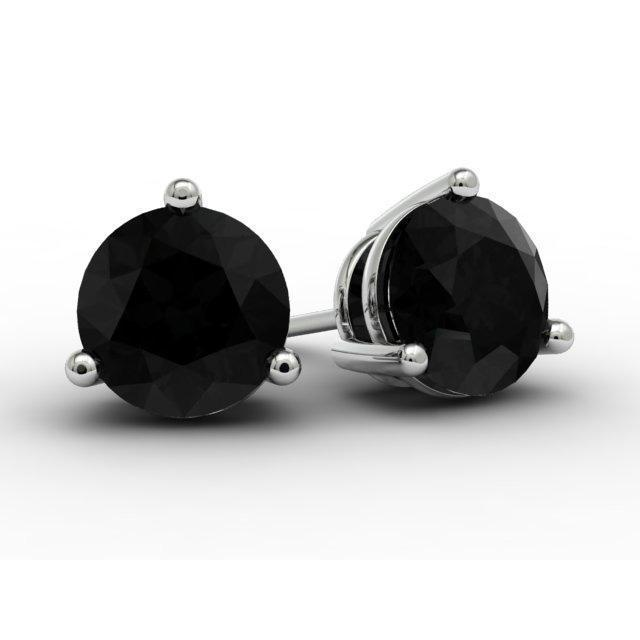 Black Diamond Gold Earrings
