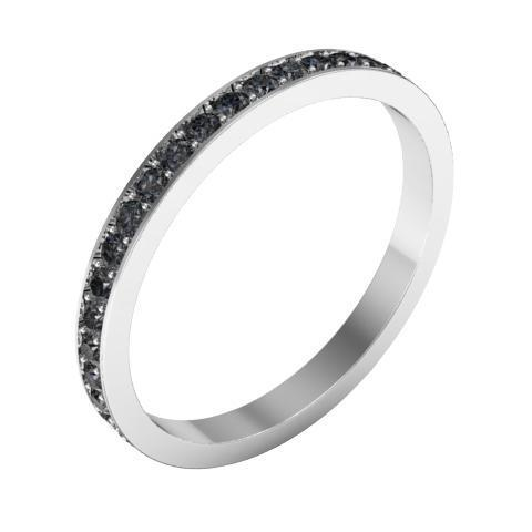 Black Diamond Pave Eternity Ring (0.50 cttw) Gemstone Eternity Rings deBebians