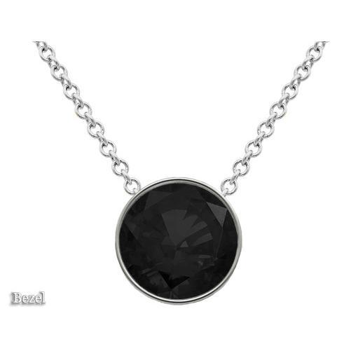 Black Diamond Solitaire Pendant Necklace Solitaire Necklaces deBebians