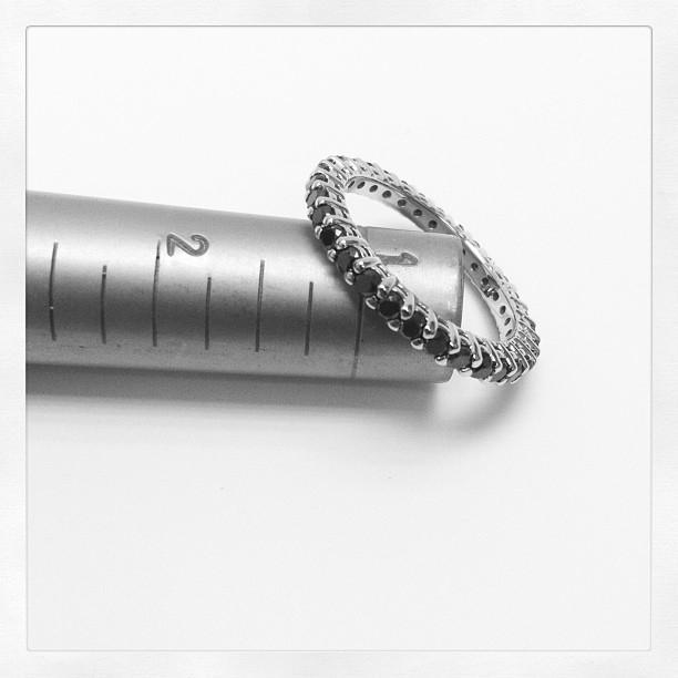 Shared Prong Setting Black Diamond Eternity Ring