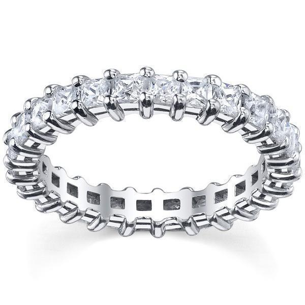 3.00cttw Princess Shared Prong Diamond Eternity Band Diamond Eternity Rings deBebians