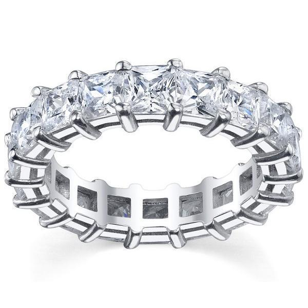 7.00cttw Princess Shared Prong Diamond Eternity Band Diamond Eternity Rings deBebians