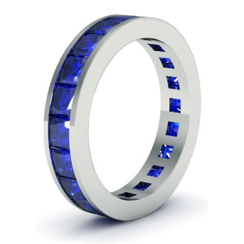 Blue Sapphire Gemstone Eternity Band Gemstone Eternity Rings deBebians
