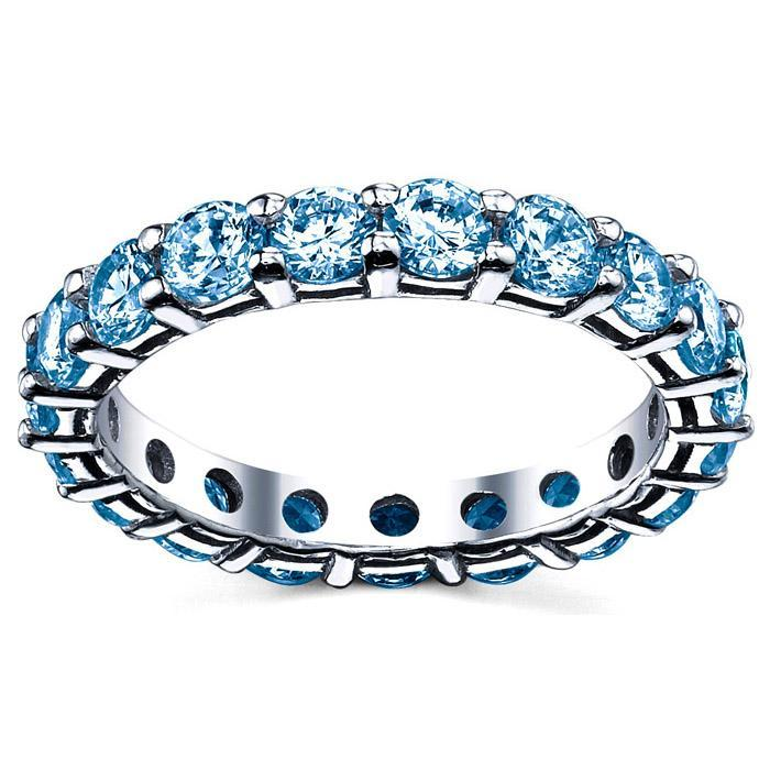 Blue Topaz Eternity Band Gemstone Eternity Rings deBebians