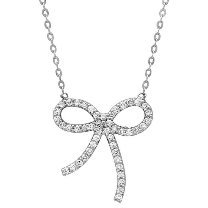 Bow Diamond Pendant Diamond Necklaces deBebians