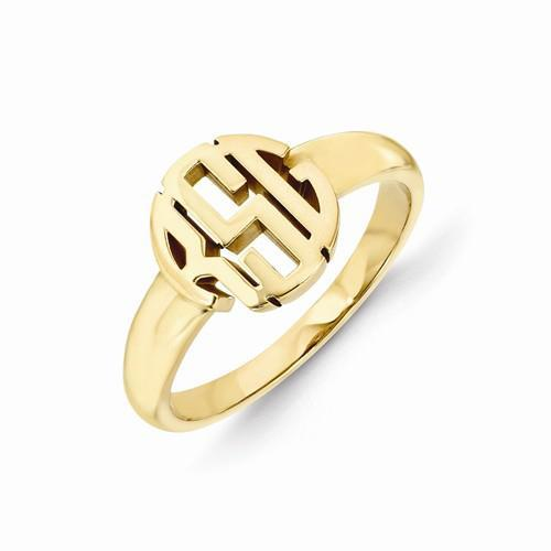 Carved Monogram Ring Gift Ideas Under $500 deBebians