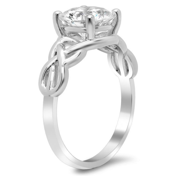 Celtic Knot Solitaire Engagement Ring