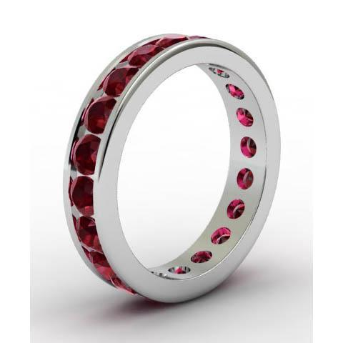 Channel Set Garnet Eternity Ring Gemstone Eternity Rings deBebians