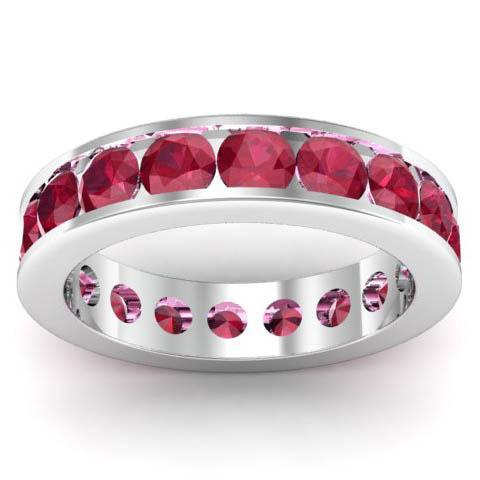 Channel Set Ruby Eternity Band