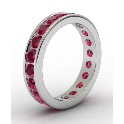 Channel Set Ruby Eternity Ring Gemstone Eternity Rings deBebians