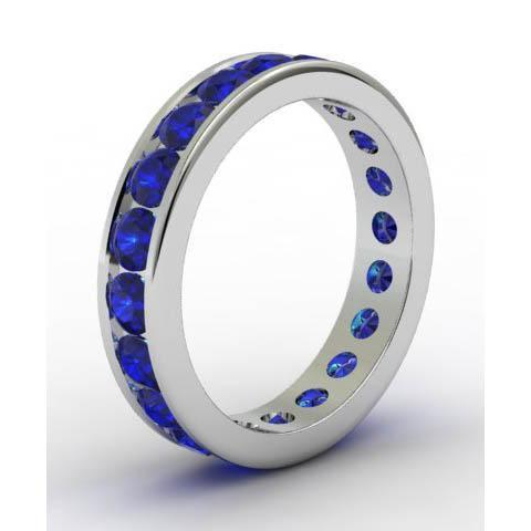 Channel Set Sapphire Eternity Ring Gemstone Eternity Rings deBebians